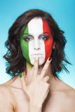 Italian supporter for FIFA 2014 hand gesture Stock Photo