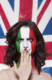 Italian supporter for FIFA 2014 with whoops expression during It Stock Images
