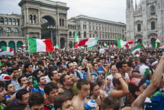 Italian football supporters Stock Images