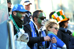 Italian supporters at RBS 6 Nations stock photos