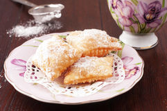 Italian sweet. Traditional italian sweet with jam and powdered sugar Royalty Free Stock Image