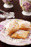 Italian sweet. Traditional italian sweet with jam and powdered sugar Stock Photo