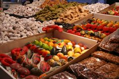 Italian Sweet Shop. Zoom at an Italian Fair Royalty Free Stock Photos