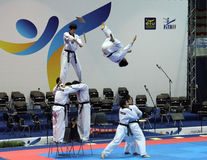Italian Taekwondo Championships, Genoa. May 2011 stock photos