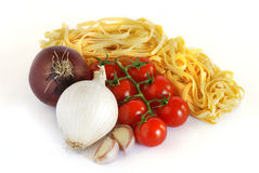 Italian tagliatelle Stock Photography