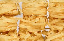 Italian tagliatelle. Close-up photo Royalty Free Stock Photo