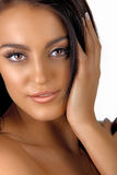 Italian tanned woman with natural make-up Royalty Free Stock Photos
