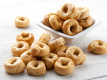 Italian taralli crackers royalty free stock photography