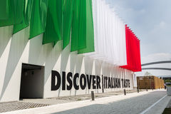 Italian taste pavilion at Expo 2015 in Milan, Italy Royalty Free Stock Photography