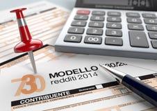 Italian taxes Royalty Free Stock Photo