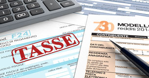 Italian taxes Royalty Free Stock Photos