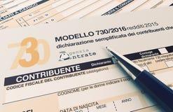 Italian taxes concept Stock Image