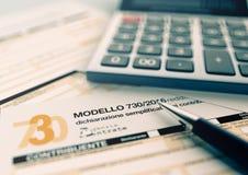 Italian taxes concept Royalty Free Stock Photography