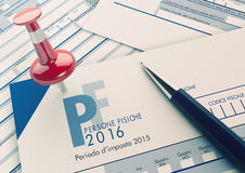Italian taxes concept Royalty Free Stock Images