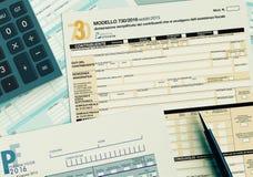 Italian taxes concept Stock Photos