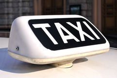 Italian taxi sign, closeup Royalty Free Stock Images