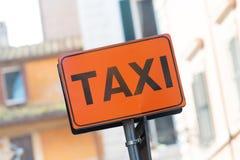 Italian taxi Royalty Free Stock Photo