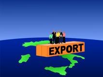 Italian team on container stock illustration