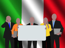 Italian team with flag vector illustration