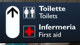 Italian Terminal Info Board Royalty Free Stock Image