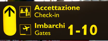 Italian Terminal Info Board Royalty Free Stock Photo