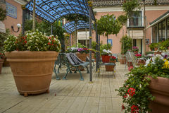 Italian terrace garden Royalty Free Stock Images