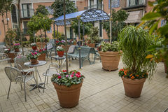 Italian terrace garden Stock Photos