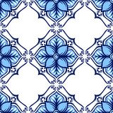 Italian tile pattern. Ethnic folk ornament. Mexican talavera, portuguese azulejo or spanish majolica royalty free illustration
