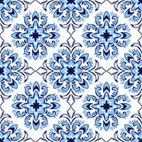 Italian tile pattern. Ethnic folk ornament. Mexican talavera, portuguese azulejo or spanish majolica vector illustration