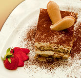 Italian tiramisu, delicious recipe Royalty Free Stock Image