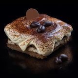 Italian tiramisu dessert royalty free stock photography