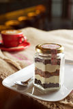 Italian tiramisu in a Jar Royalty Free Stock Photos
