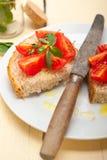 Italian tomato bruschetta Royalty Free Stock Photo