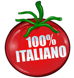 100% italian tomato isolated Royalty Free Stock Photos