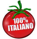 100% italian tomato isolated Royalty Free Stock Photos