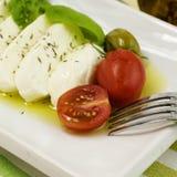Italian tomato mozarella Stock Photos