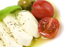 Italian tomato mozarella close up Royalty Free Stock Images
