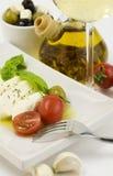 Italian tomato mozarella close up Stock Photography