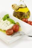 Italian tomato mozarella close up Royalty Free Stock Image