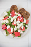 Italian Tomato Salad with Mozzarella cheese Stock Photos