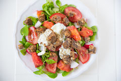 Italian Tomato Salad with Mozzarella cheese Stock Image