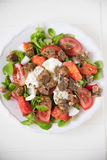 Italian Tomato Salad with Mozzarella cheese Royalty Free Stock Image