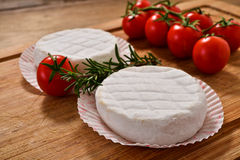 Italian tomino cheese Royalty Free Stock Images