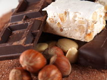 Italian torrone sweet Stock Photos