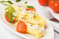 Italian tortellini pasta in cheese sauce Stock Photography