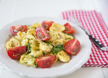 Italian Tortellini with tomatoes Royalty Free Stock Photo