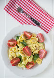 Italian Tortellini with tomatoes Royalty Free Stock Image