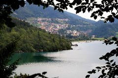 The Italian town Molveno and her lake Royalty Free Stock Image