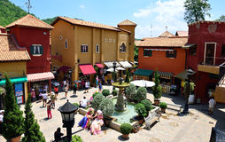 Italian Town. Palio Khao Yai is an Italian-themed shopping center, located near Khao Yai National Park, Prachinburi, Thailand Royalty Free Stock Images
