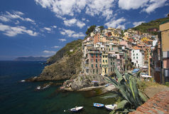 Italian town on the seacoast Royalty Free Stock Image